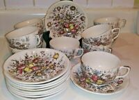 Vintage Windsor Ware Johnson Bros 20 pc Coffee Cups/Saucers England