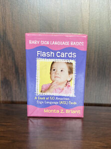Baby Sign Language Basics Deck Of 50 American Flash Cards Monta Z Briant ASL