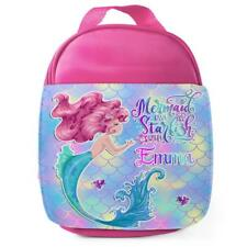 Personnalisé Sac à lunch jolie sirène rose école filles enfants Box KS201