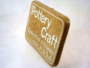 MINT Vintage POTTERY CRAFT Advertising DEALER Display Case SIGN Plaque RARE