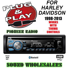 PLUG & PLAY FOR HARLEY PIONEER BLUETOOTH CD USB AUX RADIO STEREO CD ADAPTER KIT