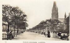 Princes Boulevard Liverpool RP pc used 1916 WHS Mersey Series