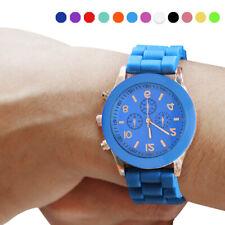Battery Powered Women Men Watch Silicone Jelly Sports Quartz Wrist Watch Sale