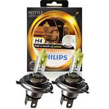 Philips Colorvision Yellow Amarillo +60% Kit 2x H4 12V 60/55W P43t 9RJ