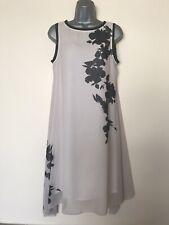 BNWT MINT VELVET Beige / Black Floral Floaty Dress - UK Size 12 - RRP £ 109 !!!!