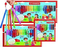 Stabilo Cappi Fibre Tip Ergonomic School Washable Colouring Pens - 12, 18, 24