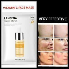 Vitamin-C Serum Strong Anti Wrinkle Dark Spot Removal Skin Glowing Face Mask.