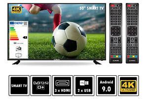 "Fernseher 4K LED Smart TV 50"" 55"" 60"" 65"" 75"" UltraHD HDR DVB-T2/S2 Elements"