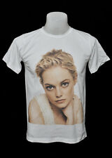White crew t-shirt Emma Stone short hair rock cute cotton CL tee size S