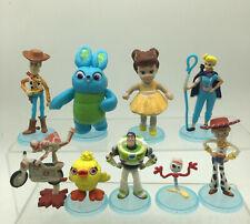 Toy Story 4 Movie 9pcs Toy Figures: Woody Buzz Jessie Bo Peep Forky Cake Topper