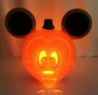 "Disney Mickey Mouse Blow Mold Light Up Halloween Pumpkin Jack o Lantern 12"" Cute"