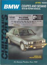 BMW 1602 2002 E3 E9 COUPE 3 5 6 7 SER E21 E30 E12 E23 E24 E28 '70-88 REPAIR BOOK