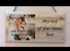 PERSONALISED PLAQUE, SIGN. PHOTO & QUOTE. GIFT BIRTHDAY FRIEND MUM DAUGHTER,