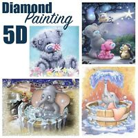 Cute Teddy / Elephant Design Full Drill 5D Diamond Painting DIY Cross Stitch Kit