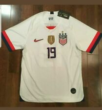 Champions #19 USA WOMENS USWNT 2019 World Cup 4 Star SOCCER JERSEY w/ FIFA Patch