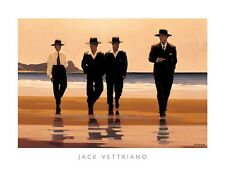 BILLY BOYS ART PRINT BY JACK VETTRIANO romantic business men on the beach poster