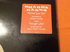 "SHABBA RANKS feat Mykal Rose - Shine Eye Gal / Rough Life '95 US PROMO 12"" EXC"