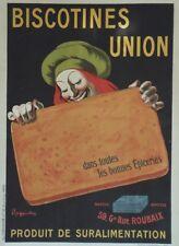 """""""BISCOTINES UNION"""" Affiche originale entoilée Litho 1905 CAPPIELLO  104x144cm"""