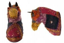 Sari Horse Head | Repurposed Sari | Animal Head Sculptures | Horse Wall Mount
