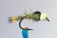 1x Mouche peche Nymphe Lievre BILLE BLANC H10/12/14/16/18/20 mosca fly nymph