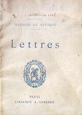 Madame de SEVIGNE. Lettres. Lemerre. Petite Collection Rose. 7,5 X 10,9 cm.