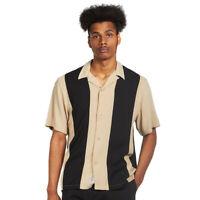 Carhartt WIP - S/S Lane Shirt Wall / Black Hemd Kurzarm