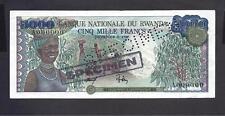 Rwanda p-15, XF, 5000 Francs, 1978, SPECIMEN !!