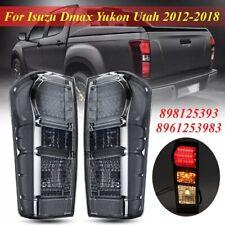 Rear Lights for Isuzu Dmax Yukon Utah 2012-2018 LED Black One Pair Tail Lights
