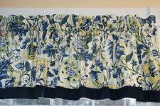 "Blue Imperial Dress Waverly Cream Yellow Green Toile Valance 17"" x 66"" Curtain"