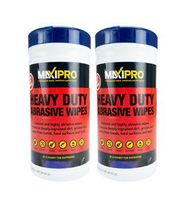 Heavy Duty Abrasive 80 Wipes Pack of 2 Anti Bac Hand,Tools,Surfaces Cleaning
