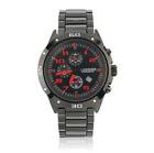 Curren 8021D-3-Black/Black/Red Stainless Steel Watch