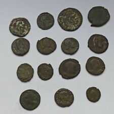 LOT OF 15 ANCIENT ROMAN IMPERIAL BRONZE COINS CONSTANTIUS,CONSTANTINE,LICINIUS