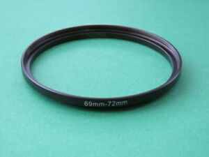 69mm-72mm Stepping Step Up Male-Female Lens Filter Ring Adapter 69mm-72mm
