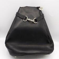 Dooney & Bourke Black Leather Alto Pyramid Sling Bucket Backpack Shoulder Bag