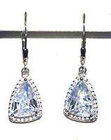 Echt 925 Sterling Silber Ohrringe Ohrhänger Zirkonia crystal Nr 213