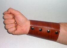 Ledermanchette Manchette Armstulpe Stulpe Leder braun cuff leather brown
