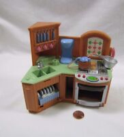 Fisher Price Loving Family Dollhouse KITCHEN UNIT w/ Sounds Stove Oven Sink #3