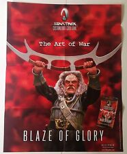 Star Trek Klingon Blaze of Glory Art of War Poster 1999