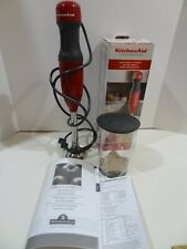 New KitchenAid 2 Speed Hand Immersion Blender Empire Red KHB1231ER Original Box