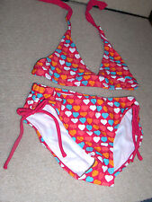 GIRLS SIZE SMALL ( 6-7 ) * OLD NAVY *LOTS OF HEARTS SWIMSUIT   NWT