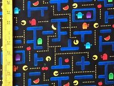 RPFTT55J Retro Arcade Video Game Japanese Style Old School Cotton Quilt Fabric