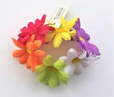 Daisy Flower Bun Ring Scrunchie Hair Elastic Multi colours