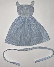 Vintage Barbie 933 Movie Date Blue White Stripe Dress Tagged 1962-63