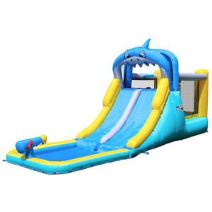 17ft Commercial Inflatable Water Slide Bouncer Double Slide Combo With Blower