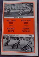Belle Vue ases V Halifax duques/Exeter Halcones, 27 de octubre 1973 Liga británico
