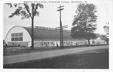 Middlebury Vermont~College Memorial Field House~1940s B&W Postcard