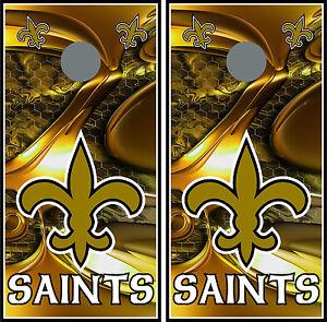 New Orleans Saints 011 custom cornhole board vinyl wraps stickers posters skins
