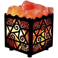 Himalay Salt Lamp Natural Gift Air Light Crystal Purifier Rock Fire Bowl Decor