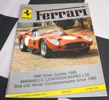 FERRARI OWNERS CLUB MAGAZINE AUTUMN 1985 No. 68 ALFA ROMEO INDY 500 8C35 TIPO B