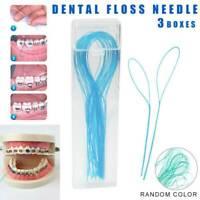105 pc Dental Floss Threaders Simple Loop + Case For Braces Bridges Imfa